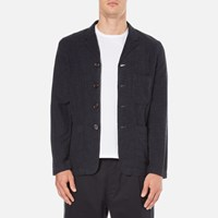 Universal Works Men's Four And Half Button Jacket Navy Blue