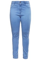 Dorothy Perkins Curve Slim Fit Jeans Bleach Bleached Denim