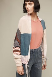 Anthropologie Plaid Cashmere Bomber Red Motif