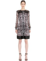 John Richmond Printed Silk Chiffon Dress