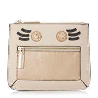 Dune Kweeny Mini Face Coin Purse Taupe