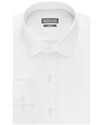 Kenneth Cole Reaction Slim Fit Dobby Solid Dress Shirt White