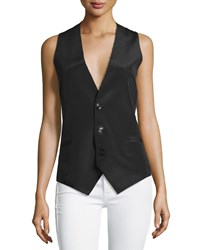 Cnc Costume National Sleeveless Button Front Waistcoat Black Women's