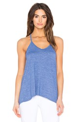 Beyond Yoga Cloud Heather Overlap Swing Tank Blue