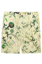 120 Linen Printed Flat Frnt Shorts