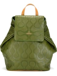 Vivienne Westwood 'Squiggle' Backpack Green
