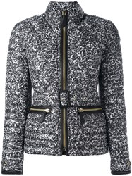 Burberry Belted Puffer Jacket Grey
