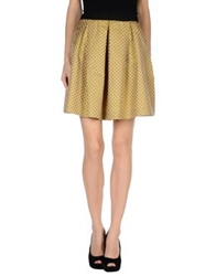 Monocrom Knee Length Skirts Yellow