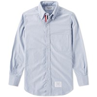 Thom Browne Classic Grosgrain Placket Oxford Shirt Blue
