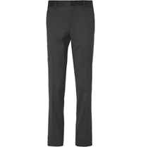 Dolce And Gabbana Slim Fit Dotted Tuxedo Trousers Black