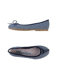 Tommy Hilfiger Denim Ballet Flats Dark Blue