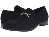 Stacy Adams Gulliver Navy Suede Men's Lace Up Moc Toe Shoes Blue
