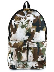 Off White Camouflage Backpack Black