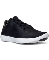 Under Armour Women's Street Precision Low Running Sneakers From Finish Line Black White