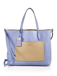 Tod's Joy Large Reversible Two Tone Leather And Suede Tote