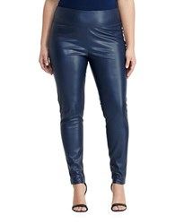 Lauren Ralph Lauren Plus Faux Leather Leggings Navy