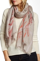 Leigh And Luca Marble Design Silk Blend Scarf Multi