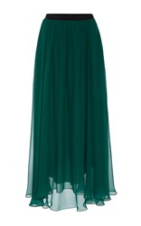 Prabal Gurung Chiffon Midi Skirt Green