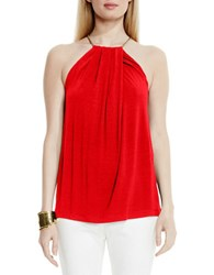 Vince Camuto Hardware Halter Top Red