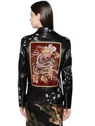 Etro Hand Painted And Embroidery Leather Jacket