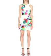 Roland Mouret Lumley Spotlight Print Crepe Dress Colour Pop