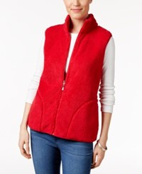 Karen Scott Reversible Sherpa Vest Only At Macy's New Red Amore