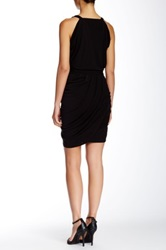 Yigal Azrouel Draped Crossover V Neck Dress
