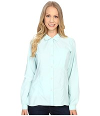 Exofficio Lightscape Long Sleeve Shirt Tourmaline Women's Long Sleeve Button Up Multi