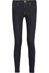 7 For All Mankind The Skinny Low Rise Jeans Dark Denim