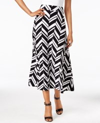 Inc International Concepts Printed Midi Skirt Only At Macy's Graphic Zig Zag