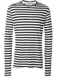 Barbara I Gongini Striped Long Sleeve T Shirt Black