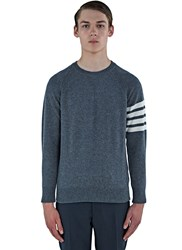 Thom Browne 4 Bar Fully Fashioned Cashmere Sweater Grey