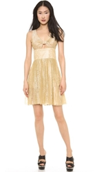 Moschino Cheap And Chic Lace Dress Gold