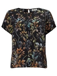 Eastex Osbourne Leaves Shell Blouse Multi Coloured