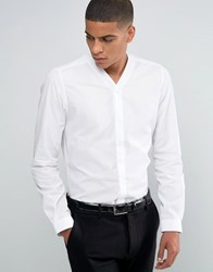 Hart Hollywood By Nick Slim Smart Shirt With V Neck White