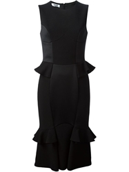 Moschino Cheap And Chic Ruffle Detail Dress Black