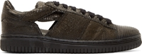 Christian Peau Black Lizard Cut Out Sneakers