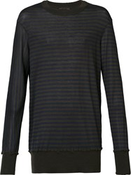 Ziggy Chen Cashmere Stripe Jumper Brown