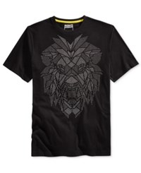 Sean John Men's Big And Tall Men's Graphic Print T Shirt Pm Black