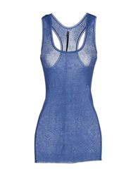 Jean Colonna Tank Tops Blue