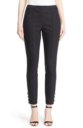 St. John Women's Collection 'Alexa' Button Detail Scuba Leggings
