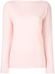 Incentive Cashmere Boat Neck Jumper Pink Purple