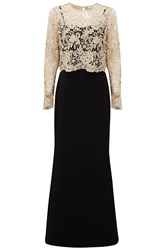 Almost Famous Lace Overlay Ball Gown Black