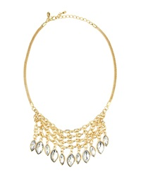 Greenbeads By Emily And Ashley Golden Marquise Rhinestone Bib Necklace