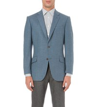 Richard James Single Breasted Cashmere And Wool Jacket Mid Blue