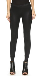 David Lerner Leatherette Leggings With Cuffs Classic Black