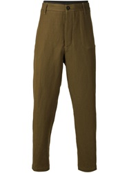 Ann Demeulemeester Tapered Trousers Brown
