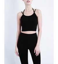 Whistles Studio Stretch Crop Top Black