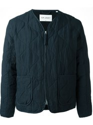 Our Legacy Quilted Zipped Jacket Blue