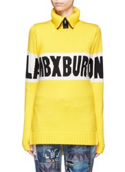 Burton X L.A.M.B. 'Eno' Intarsia Zip Turtleneck Sweater Yellow